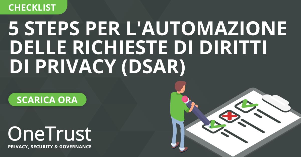 DSAR checklist